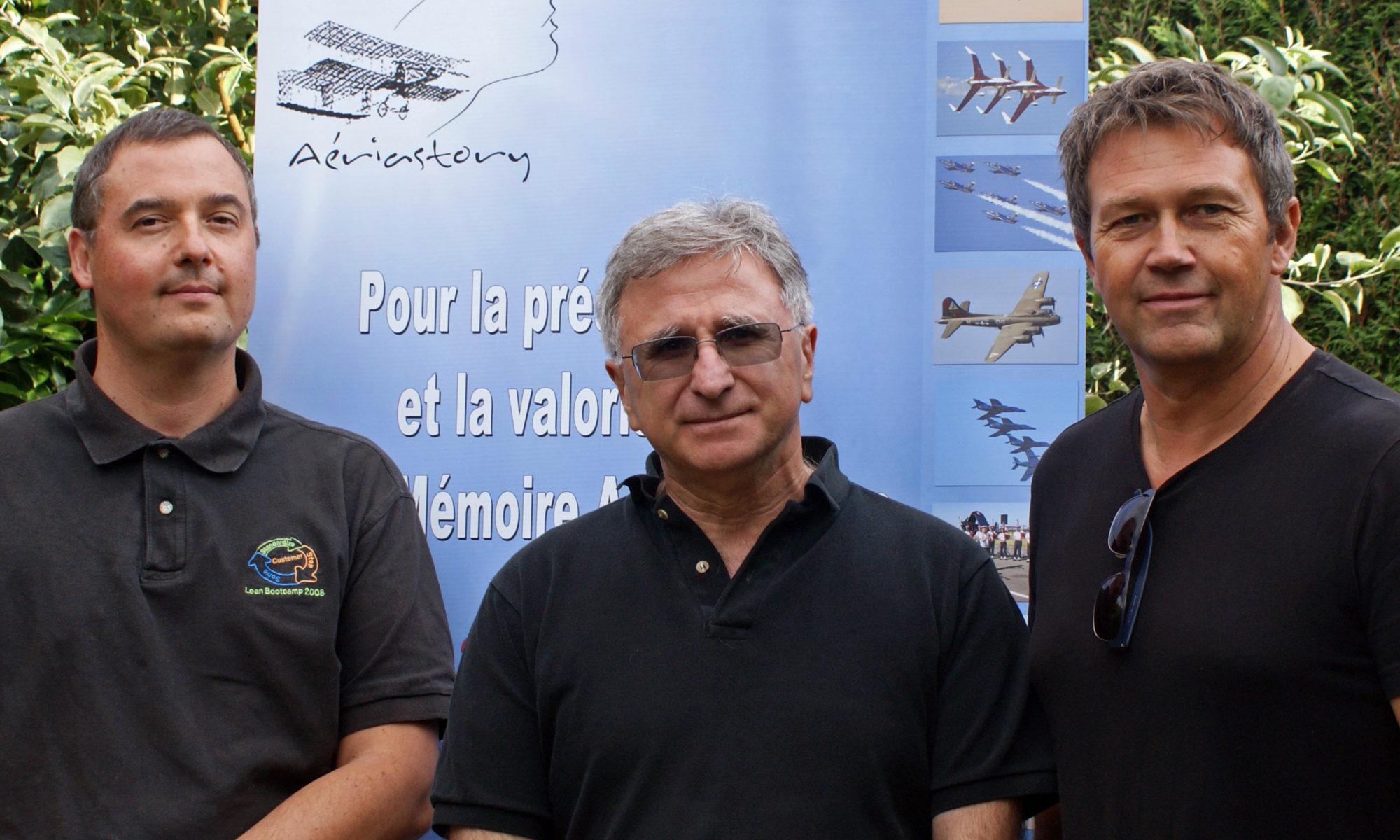 Bruno MUTHELET Trésorier, Gérard FINAN Président, Pascal BOUCHAIN Secrétaire